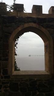 Pier through window