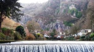 View of the gorge from the large weir