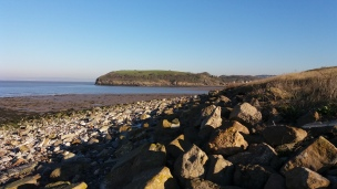 Wain's Hill from the beach