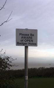 badger-holes-sign